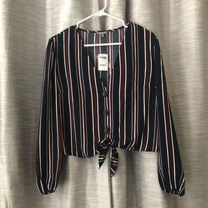 NWT striped blouse